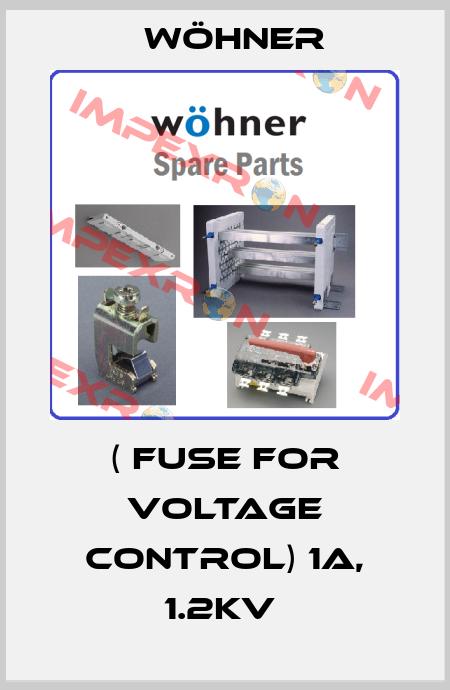 Wöhner-( FUSE FOR VOLTAGE CONTROL) 1A, 1.2KV  price