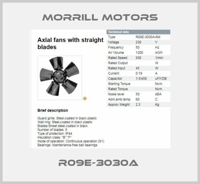 Morrill Motors-R09E-3030A  price